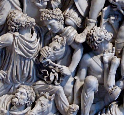 Motive from the Ludovisi sarcophagus