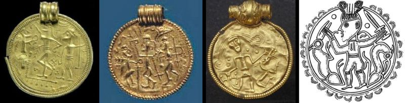 Four type B bracteates