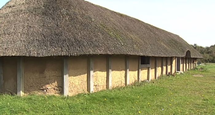 Reconstructed Iron Age house from Hjemsted Oldtidspark