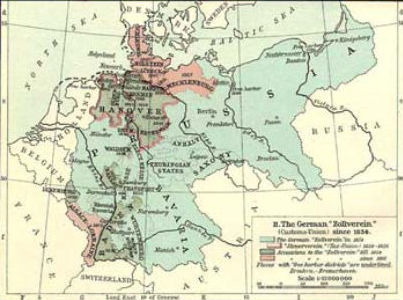 Map Of Zollverein Germany.A Criticism Of Economic Liberalism