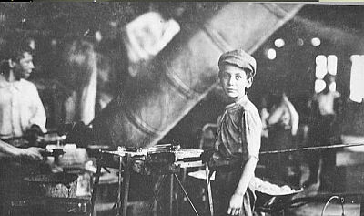 Young english factory worker