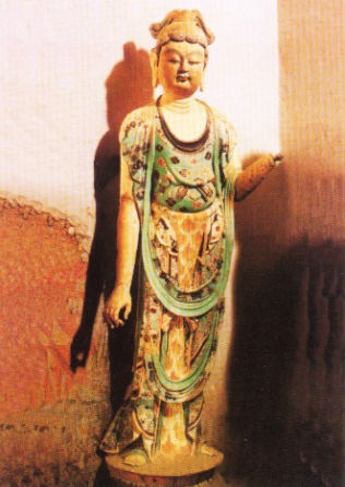 One more Buddha with blond hair from the Dunhuang cave no. 45