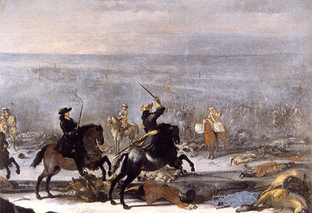 The battle at Lund in Scania - 1676