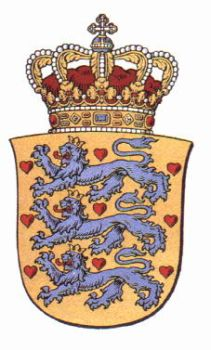 The three lions from the danish coat of arms