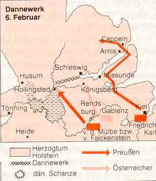 German plan to bypass the Danevirke position
