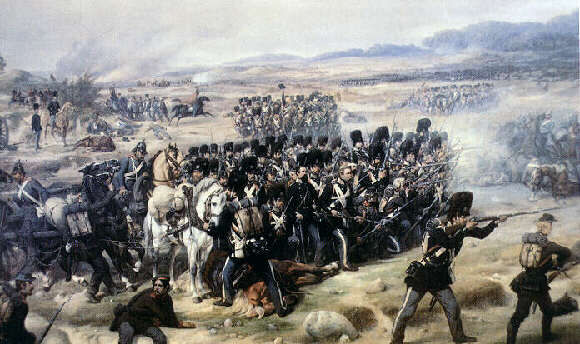 The Royal guard in battle at Isted 1850