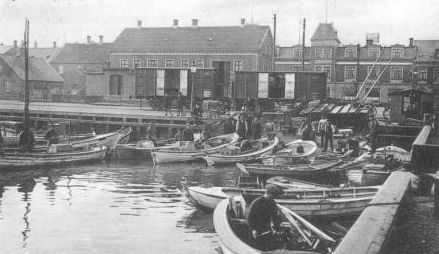 Independent fishermen in the sixties with small  boats