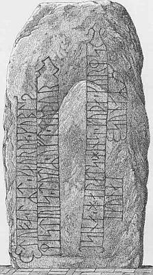 Runestone in Soender Vissing church