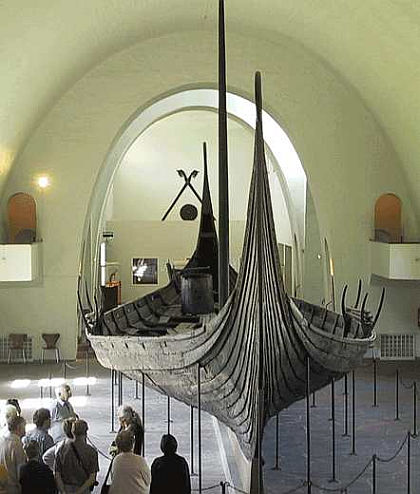 The Oseberg vikingship from Norway