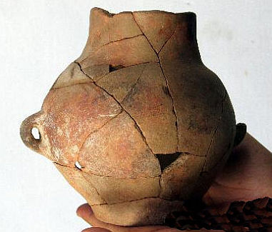 Yuezhi ceramic found near Hami