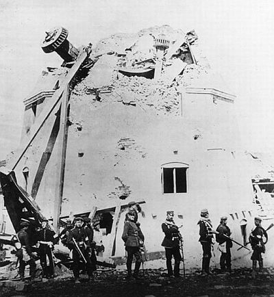 Dybb�l windmill after the final assault 18. of April 1864 - Prussian photo