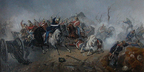 Squadron of 6. Dragonregiment in battle at Husby 1848