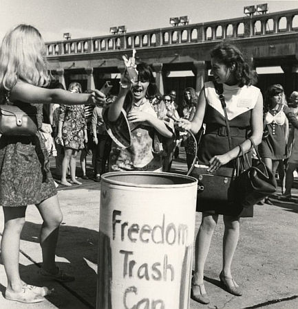 Bra burning in Atlantic city in 1968