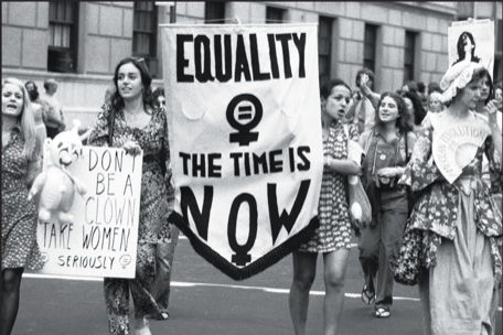 Demonstration for women's rights