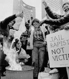 Bra burning in Toronto in 1979