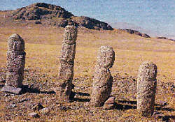 Stone men from present Mongolia