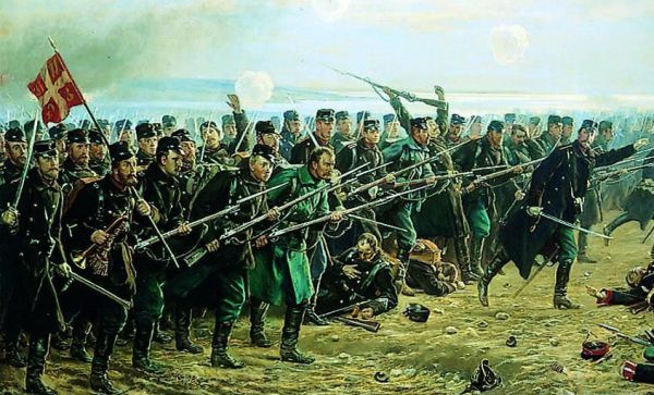 8. Brigade's counter attack at Dybbøl on 18. of April 1864