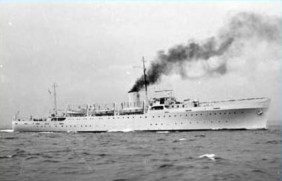Galatea 2 sails out for the worldwide scientific expedition in 1950