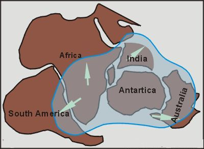 The extension of the Karoo Ice Age glaciation in Gondwana