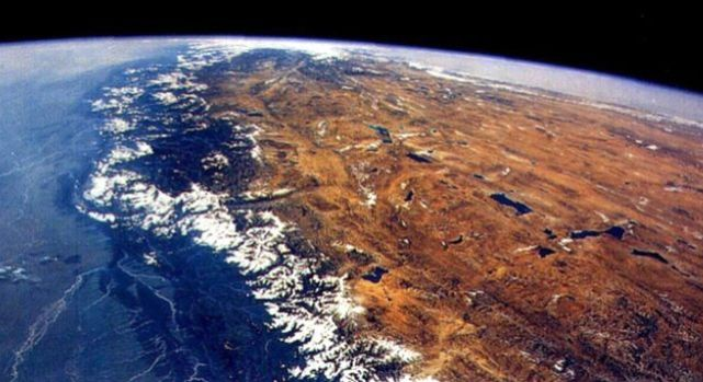 Himalay and Tibet seen from space