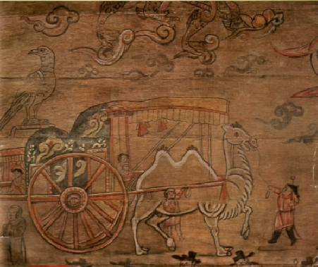 Qi Dan on travel -   Chinese drawing of unknown origin