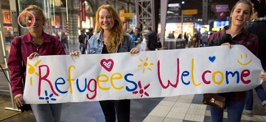 Young girls welcome muslims invaders