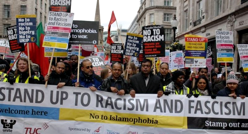 Politically correct demonstration in London 2016