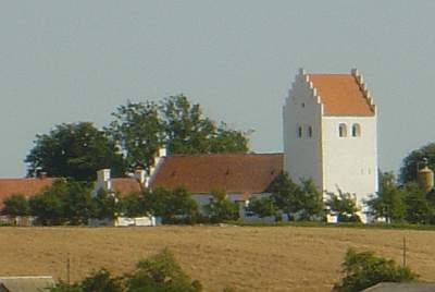 Stubberup Village church on Hindsholm of the island of Funen