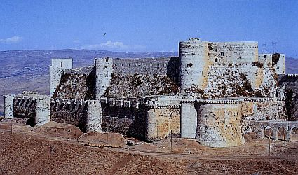 The Crusader Fortress Crac des Chevaliers in present Syria