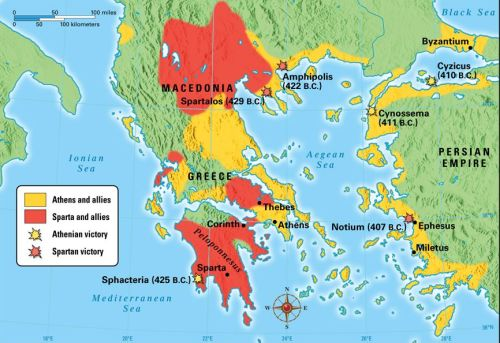 The greek states during the Peleponesian War