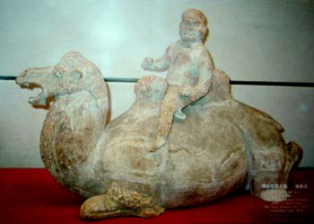 A Hu man on camel. From Xian History Museum