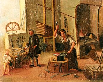 Members of the blacksmiths guild