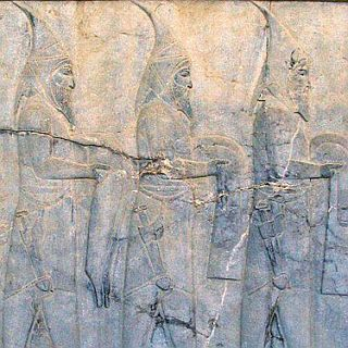 Schytians bring forward tributes to the persian king  - From Persepolis 200 AC