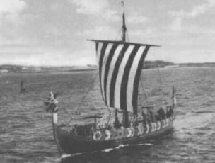 Skandinavian viking ship