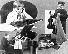 A photo of the famous violinist Menuhin as a boy