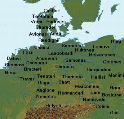 The Peoples in the area that the Romans called Germany after Tacitus