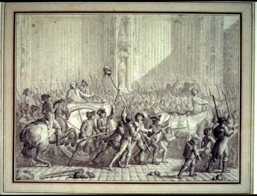 liberty equality and fraternity in the french revolution bertier de sauvignon intendant of paris is led to his punishment contemporary drawing