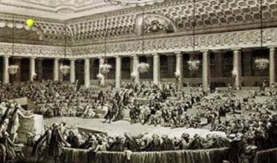 The Estates General Assembly - contemporary drawing