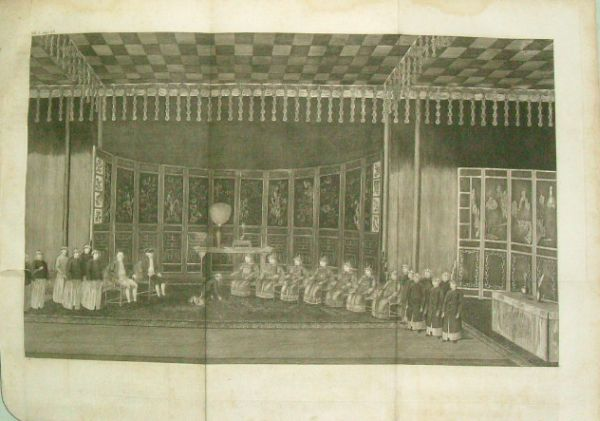 A member of the English delegation kneels for emperor Qianlong - 1793