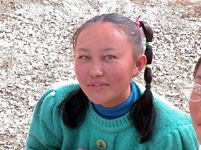 Girl from Xin jiang with blue eyes