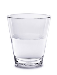 A glass of water - half full