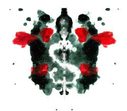 Another inkblot with a little face in the center