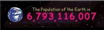 The world population clock 26-10-2009