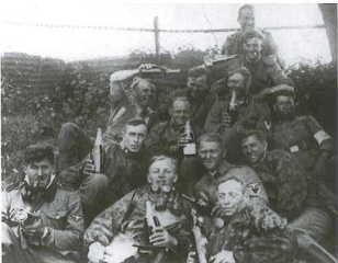 German soldiers in France with cigars and champagne