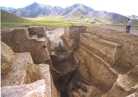Tomb from the Tang Dynasty period in the Qaidam Basin