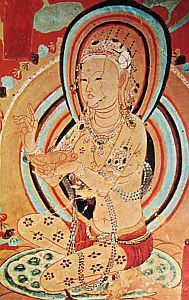 A blond beauty from the Dunhuang caves - bodhisattva or dancer?