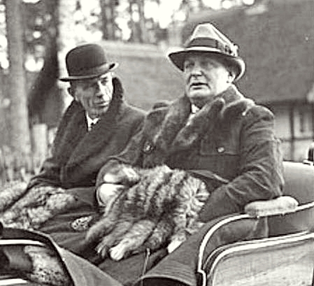 Lord Halifax on a hunting trip with Herman Goering