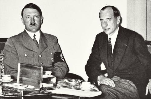 Adolf Hitler and Polish Foreign Minister Jozef Beck