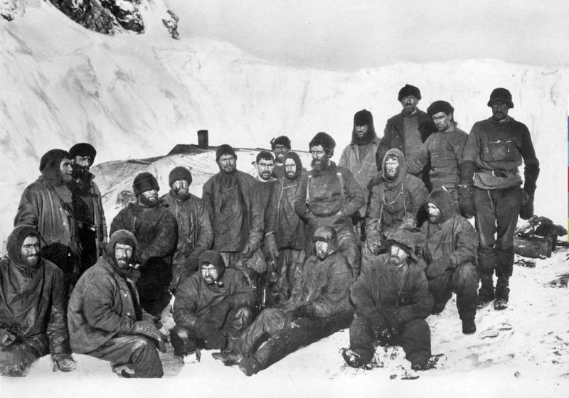 Shackleton's distressed crew, who wintered on a deserted beach on the Antarctic island of Elephant Island