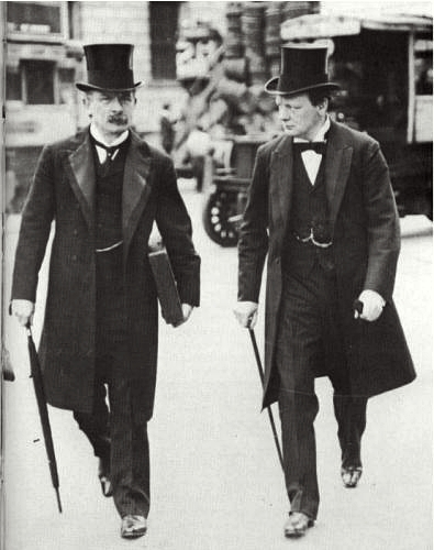 David Lloyd George and Winston Churchill in 1907